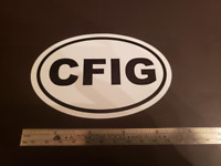 CFIG Oval Sticker Glider Pilot Instructor