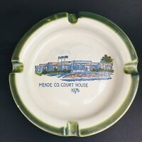 Louisville Stoneware Pottery 1976 Meade County Court House Ashtray RARE