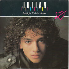 "7"" 45 TOURS FRANCE JULIAN ""Straight To My Heart / The Rain Dance"" 1987 POP"