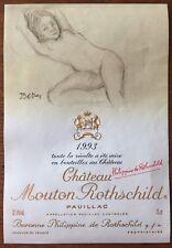 Étiquette  Mouton Rothschild 1993 - 75 cl