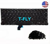 "NEW US KEYBOARD MacBook Pro Retina 13"" A1502 Late 2013 2014 Early 2015+Screws"