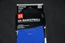 UNDER ARMOUR UA Basketball Crew Socks, Sz: Large 9-12.5, Blue, NWT; MSRP: $17.99