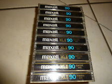 AUDIO KASSETTEN /TAPE / MUSIKKASSETTEN - MAXELL  XL II  90 EPITAXIAL (10 st)