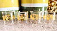 Vintage Pyrex Glass Napkin Rings Butterfly Gold. Corning Glass. Set of 4