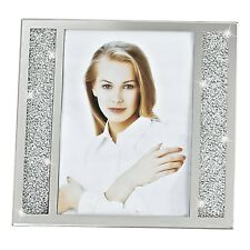 "(D) Decorative ""Lucerne"" Crystallized Glass 5x7"" Photo Frame (S1003)"