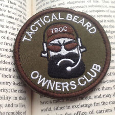 """TACTICAL BEARD OWNERS CLUB """"BLACK BEARD"""" 3D EMBROIDERED MILITARY PATCH"""