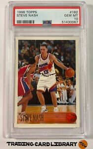 PSA 10 - Steve Nash - 1996 Topps - RC - Rookie Card - Suns - #182