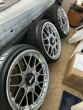 """BBS RS2 710 711 Concave 5x100 18"""" 8.5j 10j Staggered CERAMIC POLISHED SET OF 4"""