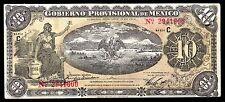 Veracruz, Gobierno Prov. de Mexico 10 Pesos O/P YUCATAN/HACIENDA. M3974f. VF+