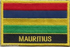 Mauritius Flag Embroidered Patch Badge - Sew or Iron on