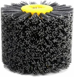 Abrasive Wire Drawing Wheel Burnishing Polishing Brush Drum for wooden furniture