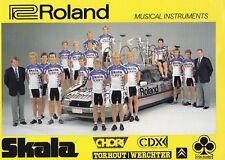 CYCLISME carte équipe cycliste SKALA ROLAND 1987   format 30 sur 21 cm