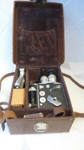 CAMERA LD8 8 mm P.LEVEQUE AVEC ACCESOIRS COFFRET ORIGINE 1955/1960 COLLECTOR