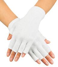 Fingerlose Handschuhe weiß NEU - Zubehör Accessoire Karneval Fasching
