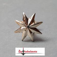 1x STERN Pickelhaube STERNSCHRAUBE mit quadratischer Mutter - Silber - Ø19mm