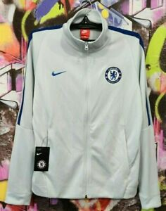 CHELSEA FC Football Soccer Longsleeve Zip Jacket Jersey Shirt Top Mens Size M