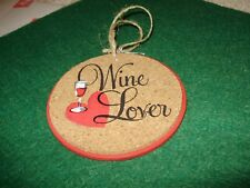 Christmas Ornament, Cork, Wine Coaster, Wine Lover, Midwest, New with Tags