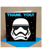 Boy's Thank You Card Pack of 6  - Stormtrooper Style (small)