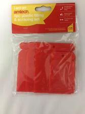 4PC PLASTIC FILLING & SCRAPING SET - FLEXIBLE FILLER BODY SCRAPER CLEAN SCRAP