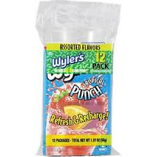 Wyler's Soft Drink Mix 12 Packets Assorted Flavors make 24 Quarts Sealed New!