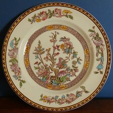A vintage 9 inch Washington hand coloured pottery Indian Tree plate.