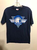 Vintage Alaska Graphic Blue T-Shirt Large Made In USA