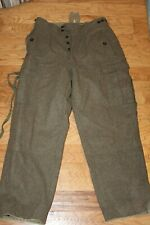 Alois Heiss K G Vintage Wwii German Wool Army Pant Sz.32Wx30L Mint Condition!