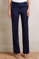 NWT Sz 4 Anthropologie Benton Trousers Navy Pants Work / Dress S Size Small