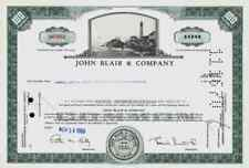 John Blair Company 1969 Warren Pennsylvanie Delaware MERRILL LYNCH 100 shares