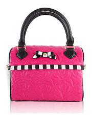 Betsey Johnson Speedy insulated Travel Lunch Box Tote Bag - Fuschia