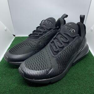 New Nike Air Max 270 Mens Size 11.5 Triple Black AH8050-005 Sneakers Missing Lid