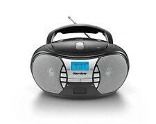 Karcher RR 5025-B tragbarer CD Player - UKW Radio - AUX-In - Schwarz / Silber