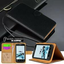 NUOVA NERA Flip Cover Stand Portafoglio Pelle Custodia Per Vari Smartphone ZTE Blade