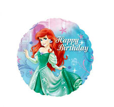 ARIEL THE LITTLE MERMAID HAPPY BIRTHDAY PARTY FOIL BALLOON 18″ ROUND ANAGRAM