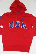 Ralph Lauren Polo USA Men Big Pony red Jacket Hoodie Sweater L Large