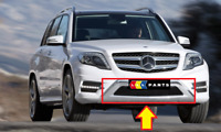 NEW GENUINE MERCEDES MB GLK X204 FACELIFT AMG FRONT BUMPER LOWER CHROME TRIM