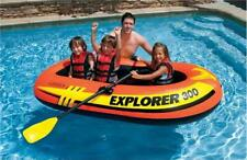 Inflatable Fishing Raft 3-Person Boat Pump Oars Compact Lake Swimming Pool Float