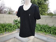 Religion Clothing, East London, T-Shirt, Black w/White, Curved Hem, Slim Mens' L