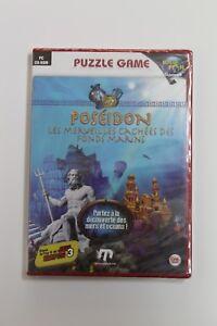 Poseidon Puzzle Game. PC Set Cd-Rom. Language French, New And Sealed