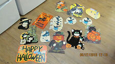 18 Halloween Die Cuts Cardboard Cut Outs Decorations