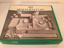 Vintage Plan It-Kit 3-Dimensional Mini Furniture Arranging Kit 1965 Unused