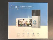 Brand New Ring Video Doorbell 2 Newest Version Satin Nickel 1080 HD Wifi