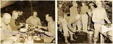 1941 Fort Sam Houston San Antonio TX US Army Field Chow Line Officer Tent Photos