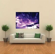 Real Lightning NUOVO GIGANTE POSTER WALL ART PRINT PICTURE G469
