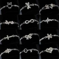 Wedding Banquet Crystal Silver Aniaml Bracelet Charm Bangle Fashion Jewelry Gift