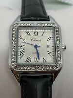 Cartier lady watch style leather strap womens watch