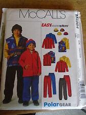 """PATRON  """"McCalls """"  VESTES /GILETS/PANTALONS/BONNET TAILLE XS/S   N° 4964"""