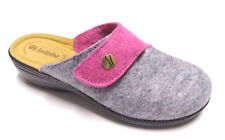 Pantofole INBLU per Donna in tessuto Fuxia e Grigio con velcro 40