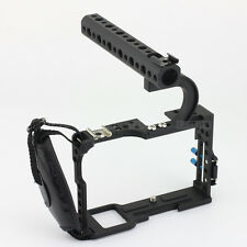 Sony A7 A7r A7ii A7S Camera Rig Armor Cage w/t Leather Strap Top Handle Grip