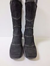 CORDANI Black Suede Mid Height Boots Shoes 39 EUC